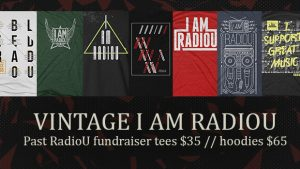 Vintage I AM RadioU tees + hoodies