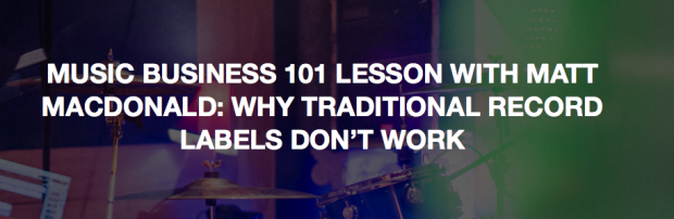 Music Business 101 Blog