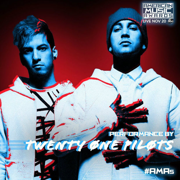 Twenty One Pilots on the AMAs