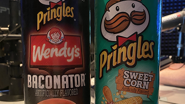 RIOT FOOD FIGHT: Wendy's Baconator and Sweet Corn Pringles!